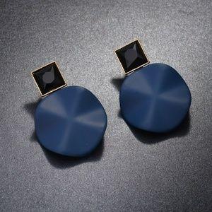 Stud Geometric Blue Earing